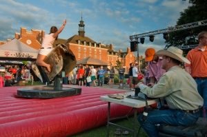 there was even a mechanical bull!